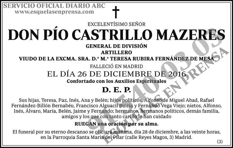 Pío Castrillo Mazeres